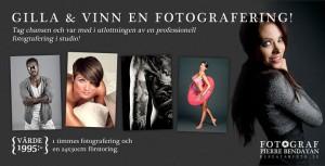Vinn en fotografering i fotostudio i Göteborg
